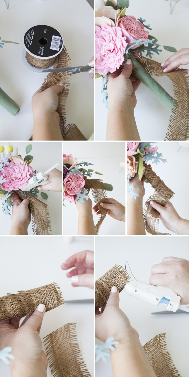 This wedding bouquet is made entirely of felt flowers diy how to make a felt wedding bouquet izmirmasajfo
