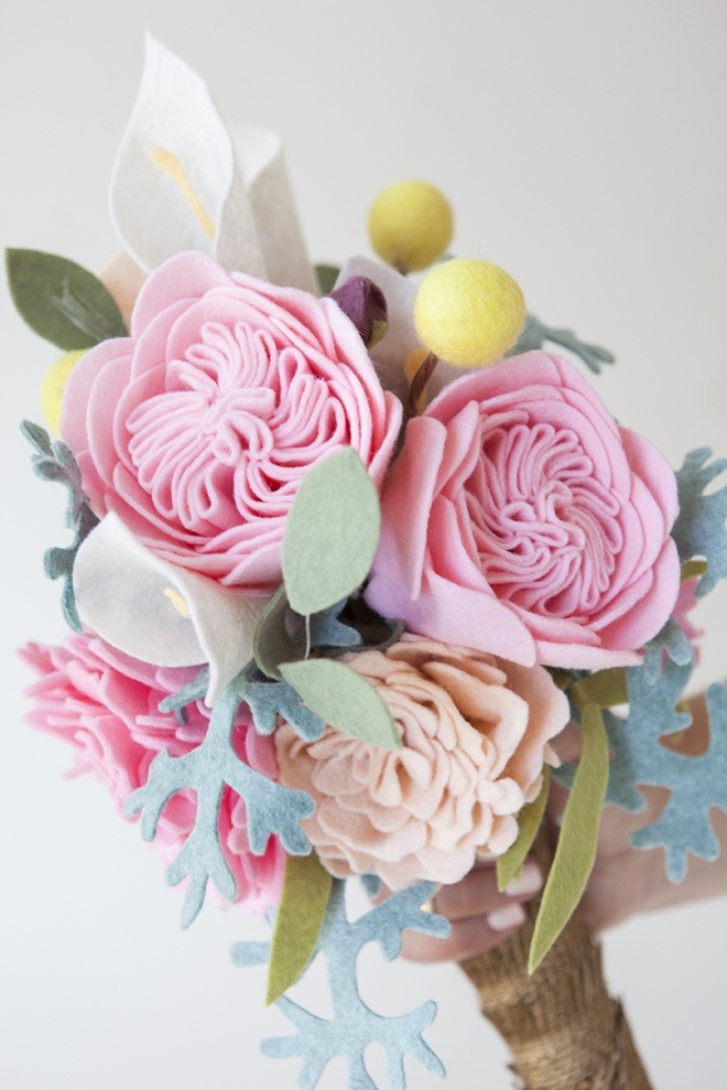 This Wedding Bouquet Is Made Entirely Of Felt Flowers!