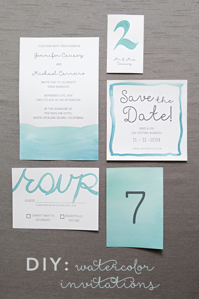 Learn exactly how to diy watercolor wedding invitations!