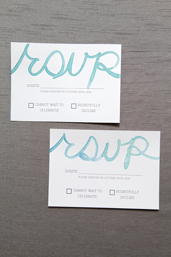 How To Watercolor Your Wedding Response Cards