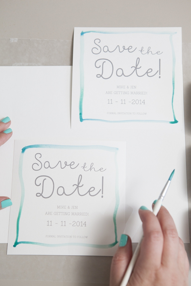 Magnificent How To Make Watercolor Wedding Invitations Photos ...