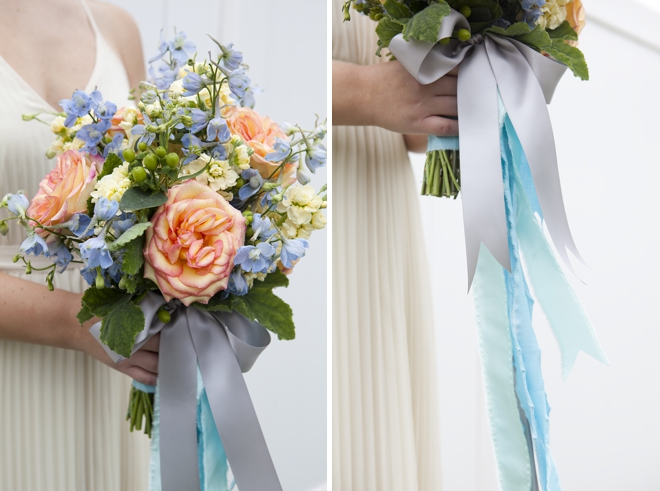 How Long Should Bridal Bouquet Stems Be : Bouquet blueprint diy wedding with long ribbons