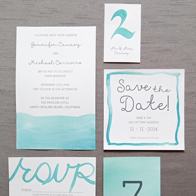 Learn exactly how to diy watercolor wedding invitations junglespirit Gallery