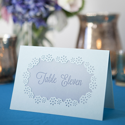 Learn how easy it is to hand punch your wedding stationary for Table 52 cards 2014