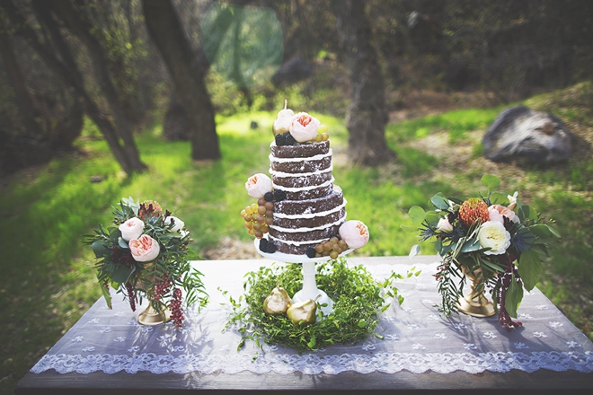 Stunning naked cake display
