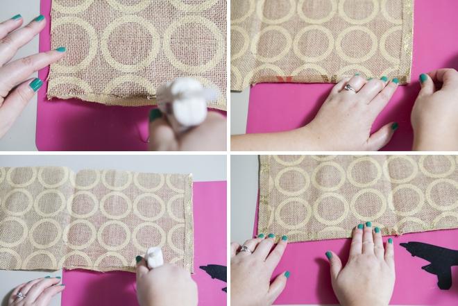How to easily make a burlap ring bearer pillow...