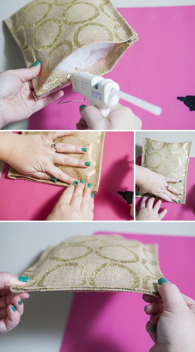 Learn how to make a ring bearer pillow with hot glue only!