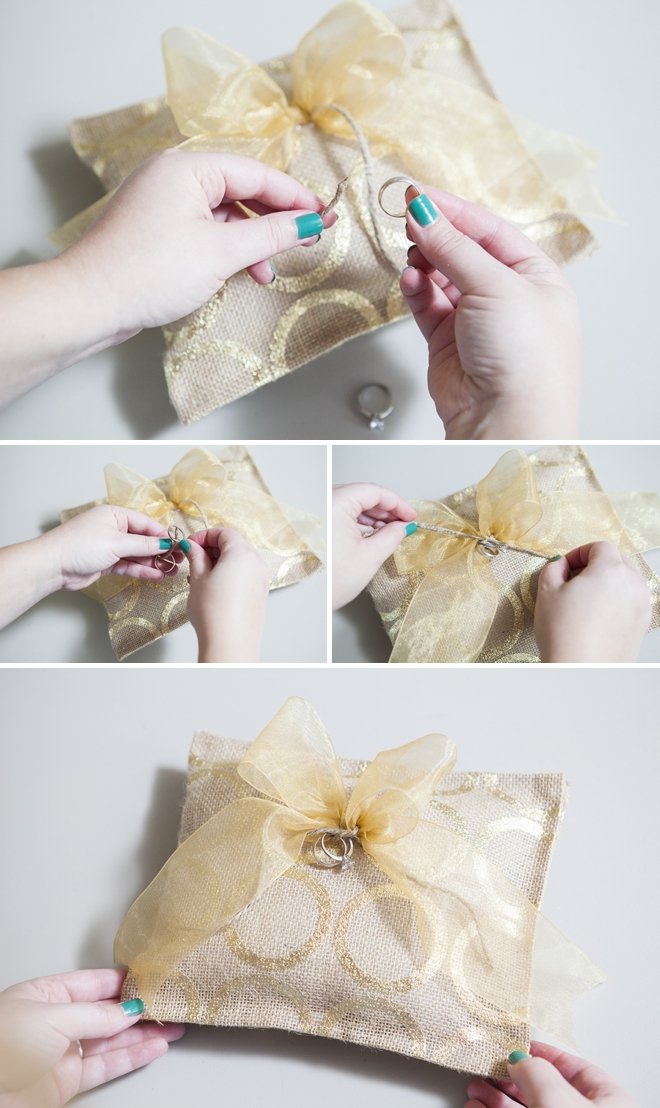 Learn how to make a ring bearer pillow with hot glue only for Diy ring bearer