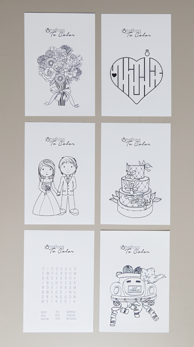 6 Designs 2 Per Page Get These FREE Coloring Pages For Weddings