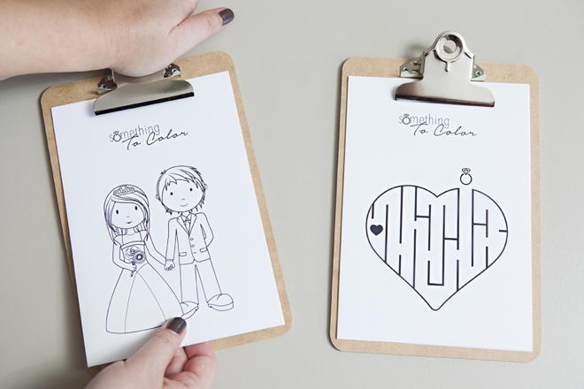 Get these FREE coloring pages for weddings!