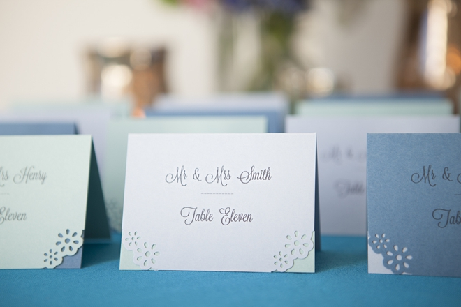 How to hand-punch your wedding escort cards!