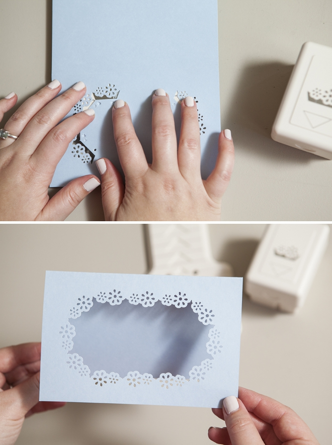 How to use the Martha Stewart Crafts frame and border punch!
