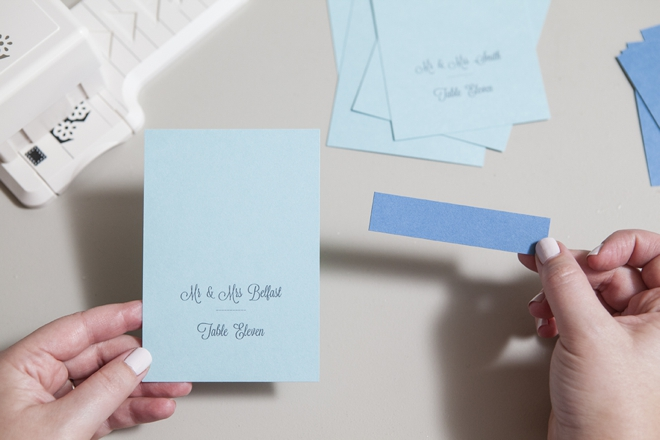 How to make simple wedding escort cards