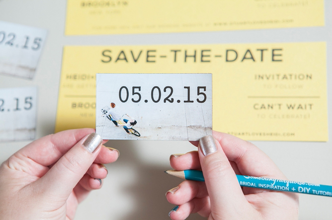 Learn how to easily make your own magnet save the dates diy wedding magnet save the date invitations colourmoves