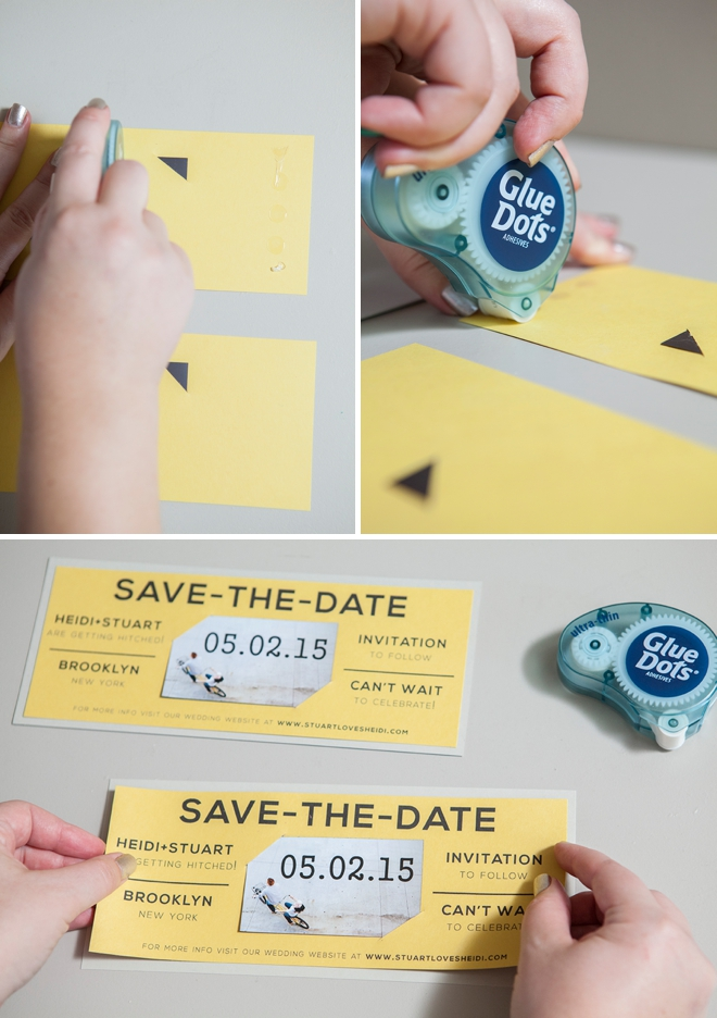 Learn how to easily make your own magnet save the dates!