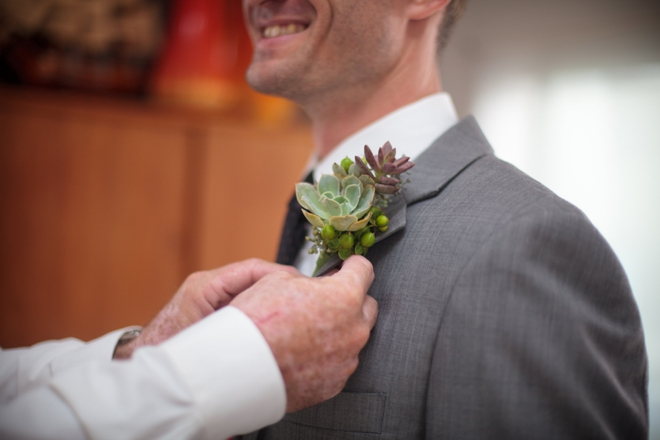 Grooms succulent boutonneire