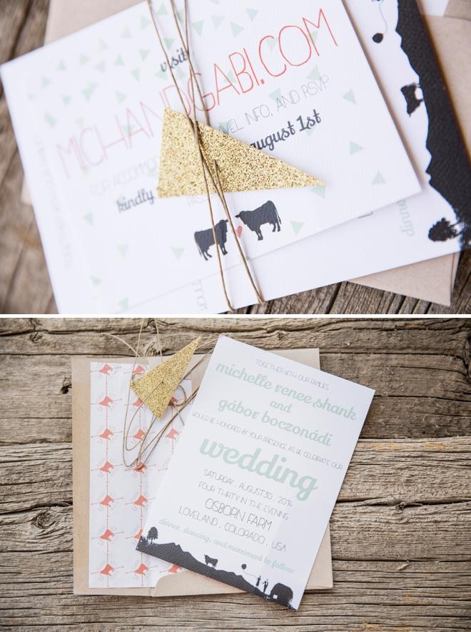 Unique DIY wedding invitations by Michelle