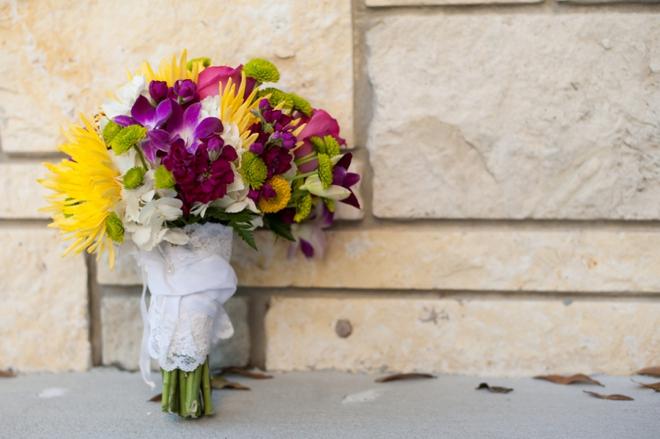 Fiesta themed wedding bouquet