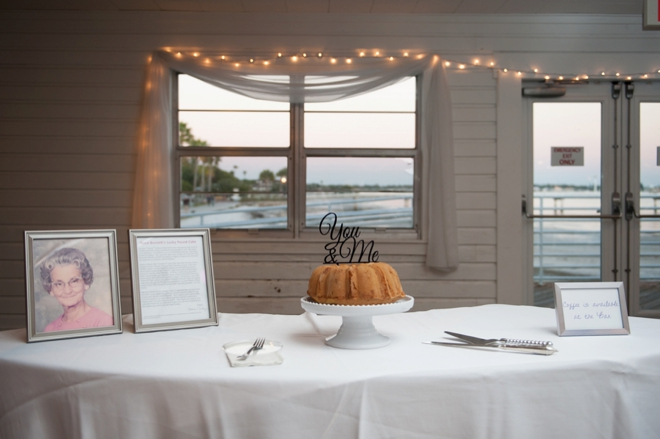 You & Me wedding cake topper