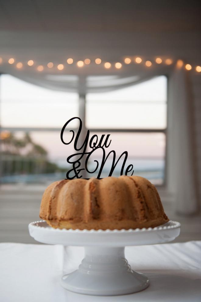 You & Me cake topper!