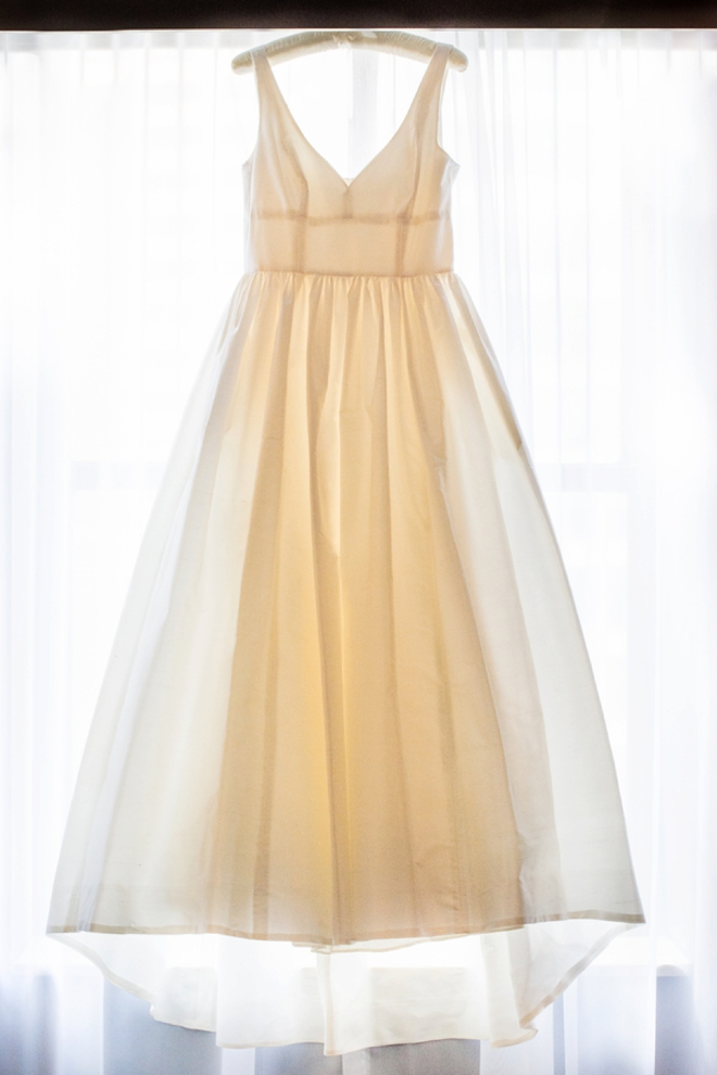 J.Crew wedding dress... waiting to be put on.