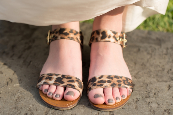 Leopard wedding sandals.