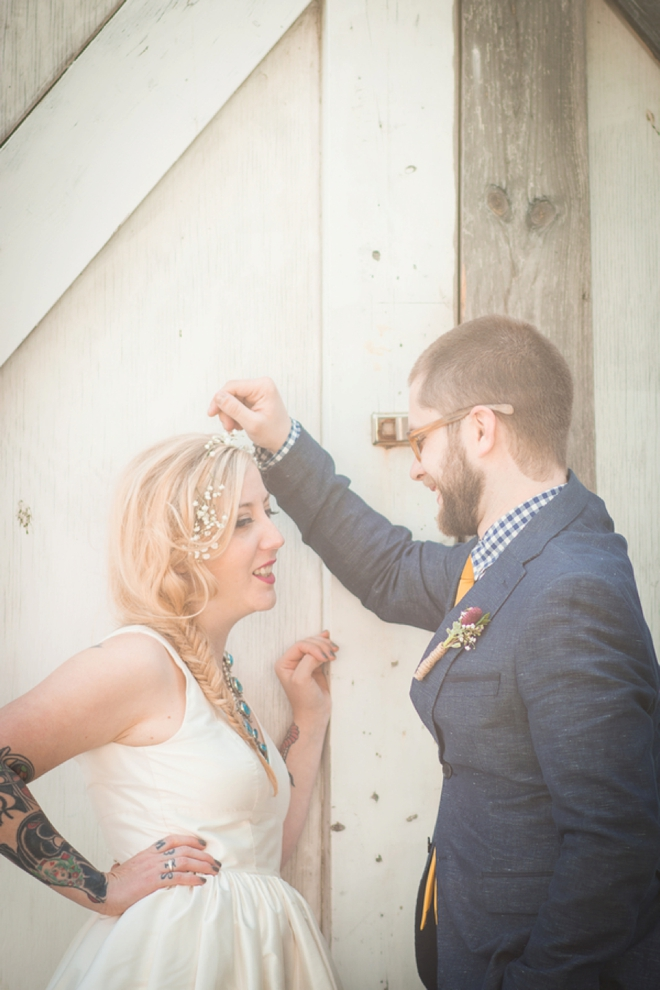 DIY Boho bride and groom...