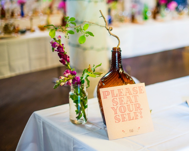 Please seat yourself -- wedding sign.