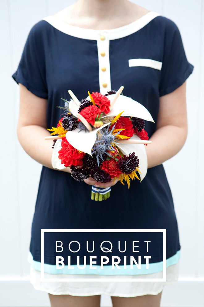 Bouquet Blueprint // How to make this stunning nautical wedding bouquet!