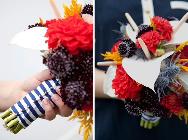 DIY Wedding // How to make this stunning, nautical wedding bouquet!
