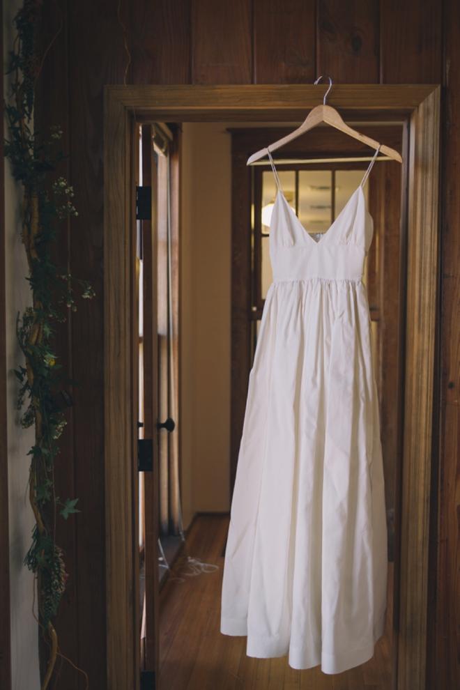 Wedding dress, waiting to be put on...