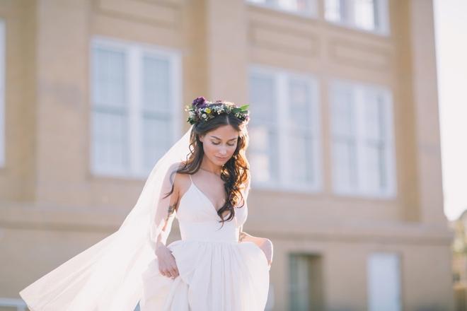 The stunning bride...