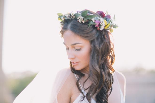 Stunning bridal portriat