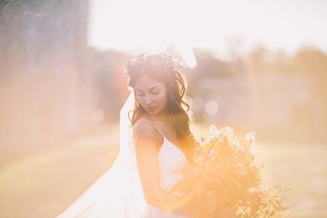 The sun-lit bride