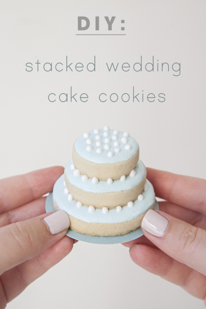 Learn how to make these darling stacked wedding cookies!