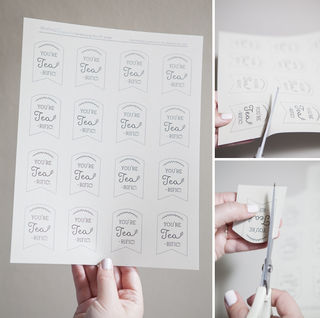 Diy Wedding Favor Tags : Learn how to make these darling tea wedding favors!