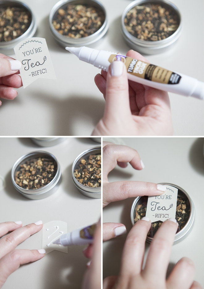 How to make tea tin wedding favors