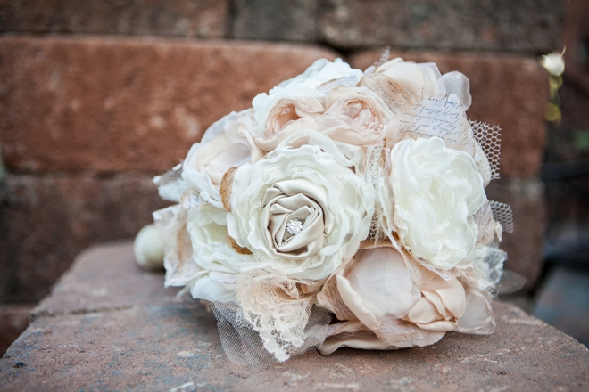 Handmade paper and ribbon wedding bouquet!