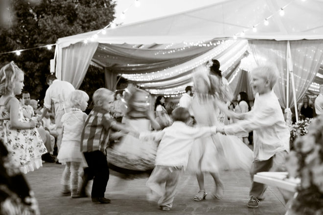 Kids dancing at the wedding...