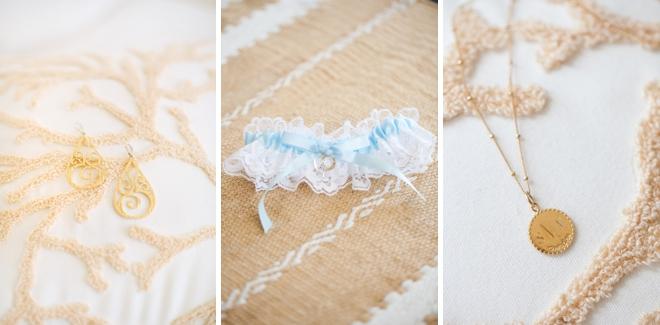 Wedding garter and jewelry