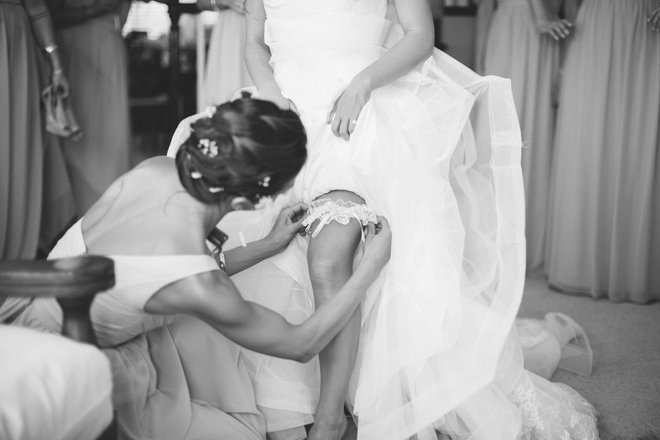 Putting on the garter
