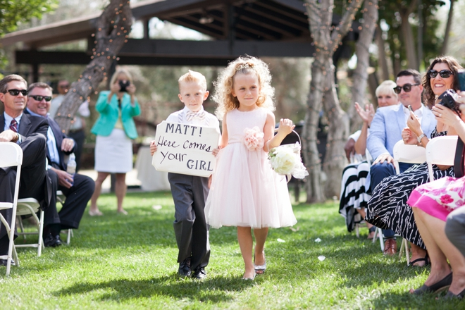 Darling rustic ring bearer and flower girl