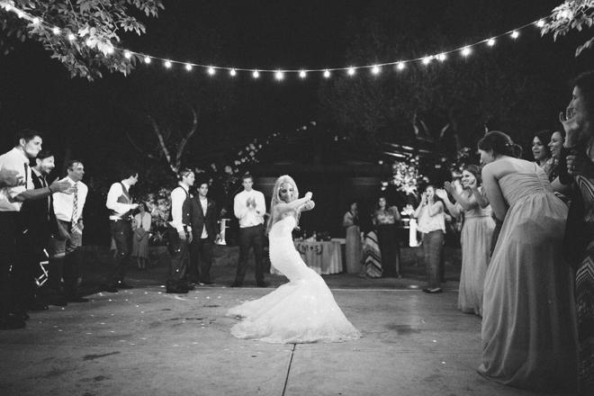 The dancing bride...