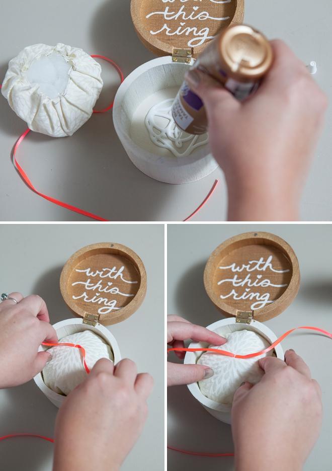 DIY - Wooden ring bearer pillow box