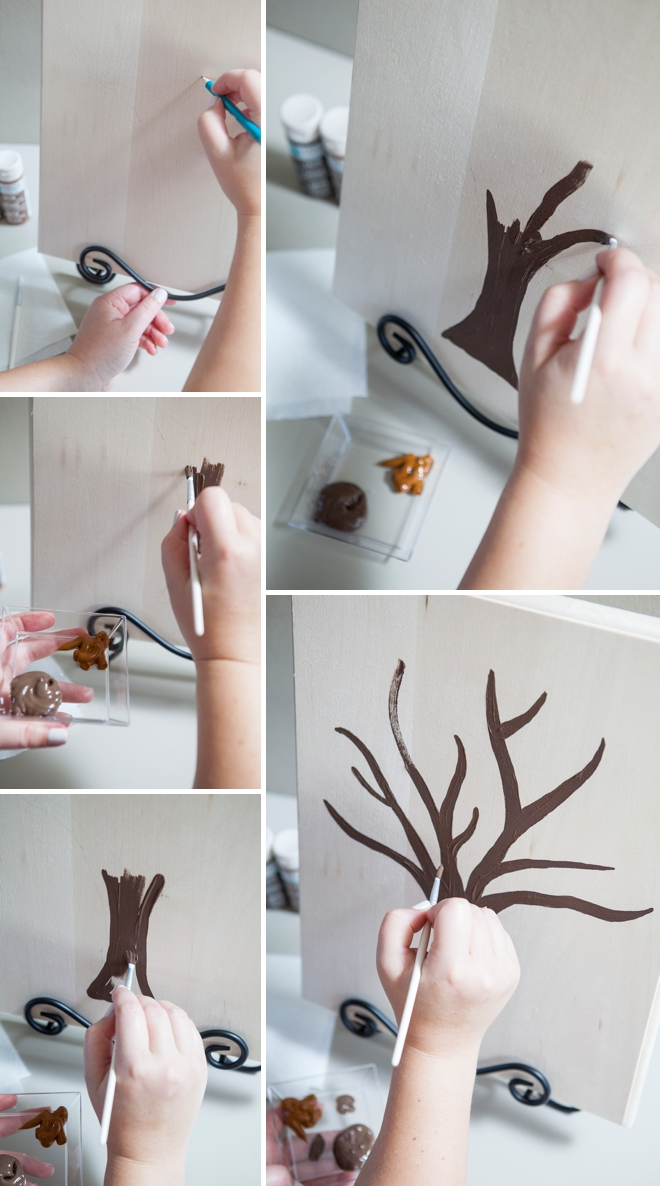 Diy Cover Guest Book : Make this darling diy painted guest book tree
