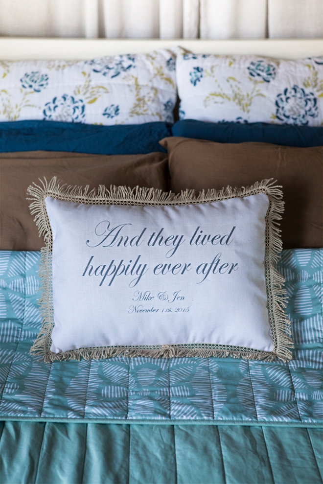 And they lived happily ever after pillow from Things Remembered