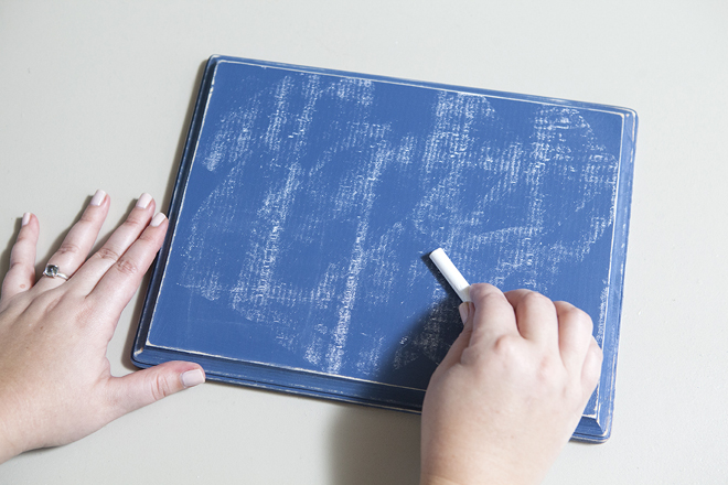 Prime your newly painted chalkboard