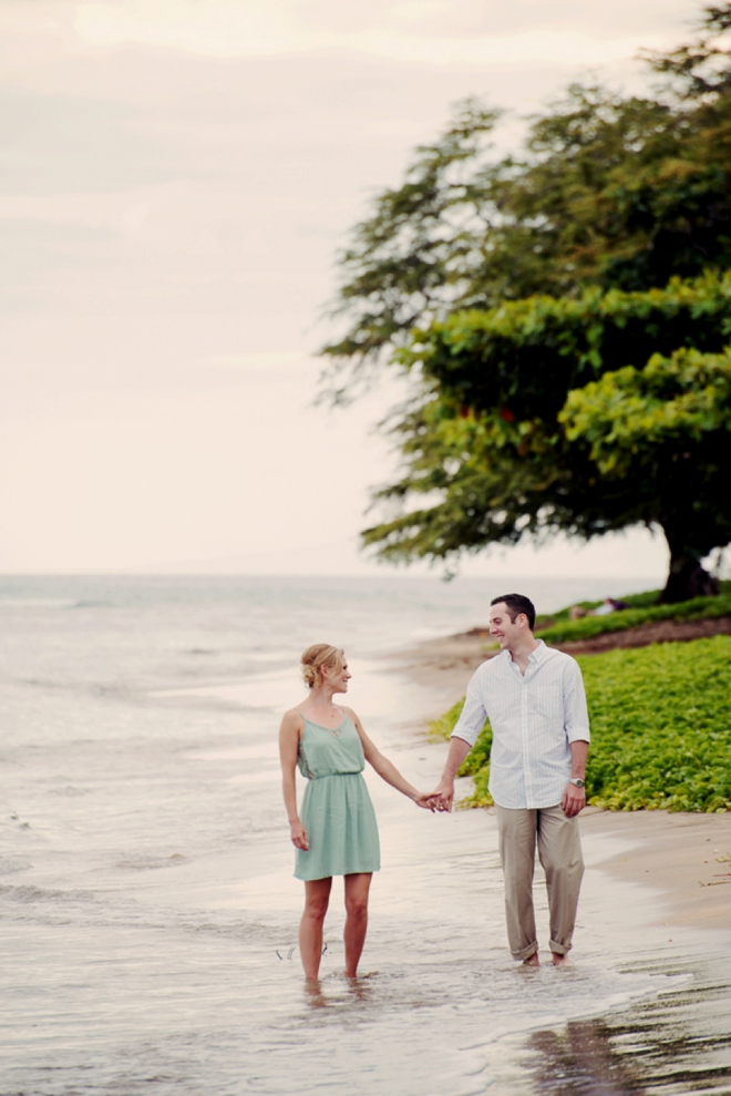 Hawaiian beach engagement