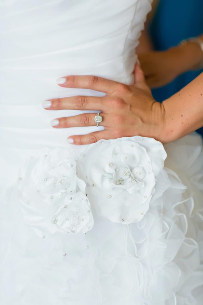 Gorgeous wedding ring shot!