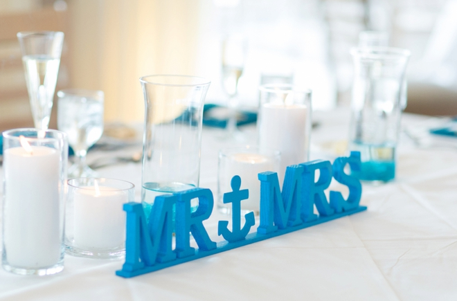 Nautical Mr & Mrs sign!